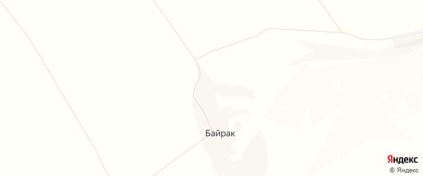 Карта хутора Байрака в Белгородской области с улицами и номерами домов