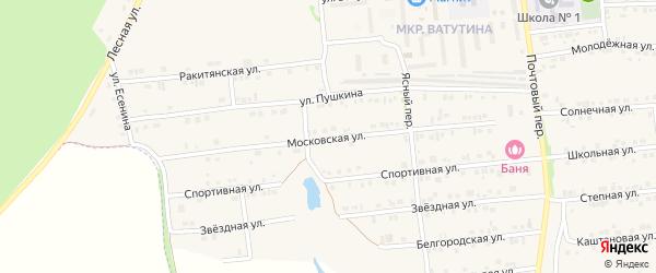 Московская улица на карте Пролетарского поселка с номерами домов