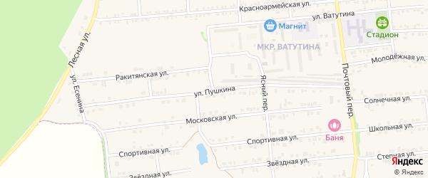 Улица Пушкина на карте Пролетарского поселка с номерами домов