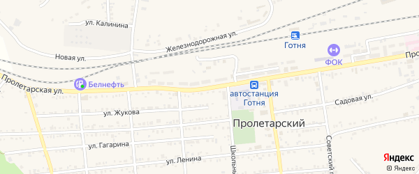 Пролетарская улица на карте Пролетарского поселка с номерами домов