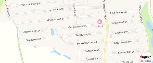 Ясный переулок на карте Пролетарского поселка с номерами домов