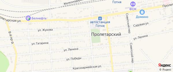 Майская улица на карте Пролетарского поселка с номерами домов