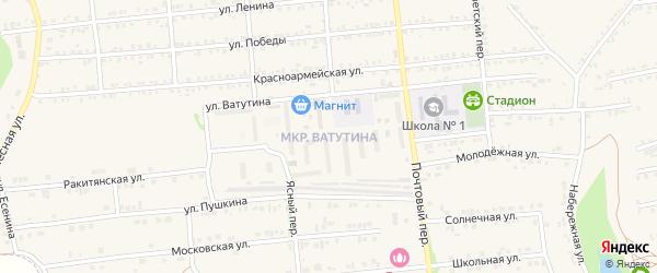Улица Ватутина на карте Пролетарского поселка с номерами домов
