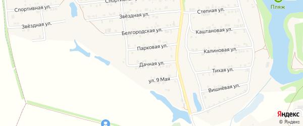 Дачная улица на карте Пролетарского поселка с номерами домов