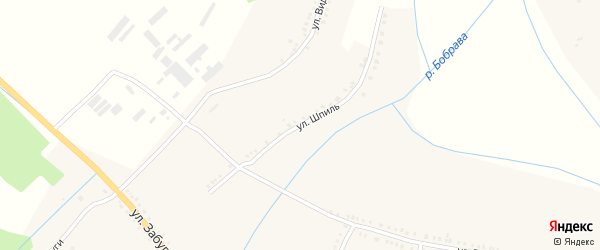 Улица Шпиль на карте села Бобравы с номерами домов