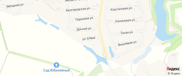 9 Мая улица на карте Пролетарского поселка с номерами домов