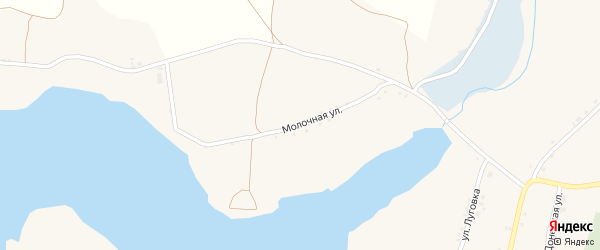 Молочная улица на карте Солдатского села с номерами домов