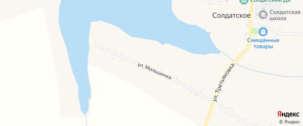 Спортивная улица на карте Солдатского села с номерами домов