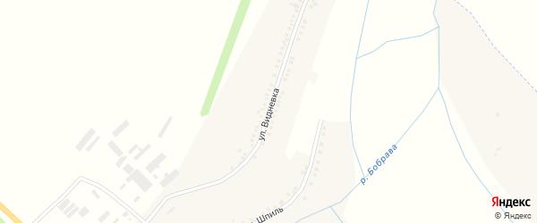 Улица Видневка на карте села Бобравы с номерами домов