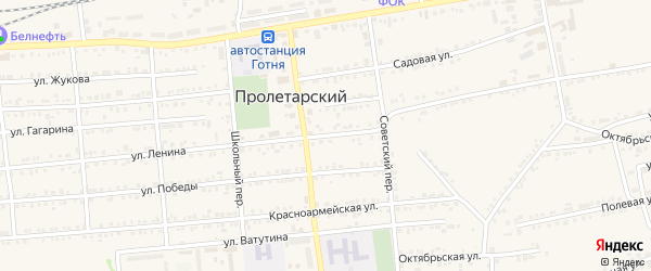 Улица Ленина на карте Пролетарского поселка с номерами домов
