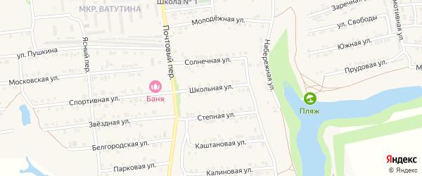 Школьная улица на карте Пролетарского поселка с номерами домов