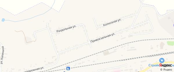 Новостроевский переулок на карте Пролетарского поселка с номерами домов