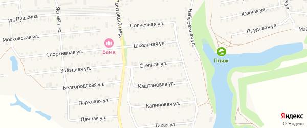 Степная улица на карте Пролетарского поселка с номерами домов