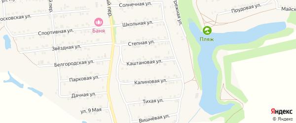 Каштановая улица на карте Пролетарского поселка с номерами домов