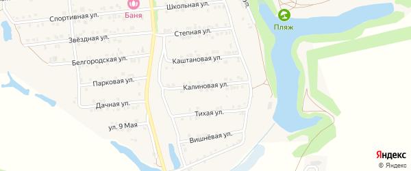 Калиновая улица на карте Пролетарского поселка с номерами домов