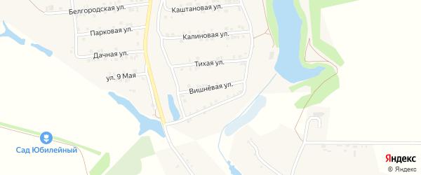Вишневая улица на карте Пролетарского поселка с номерами домов