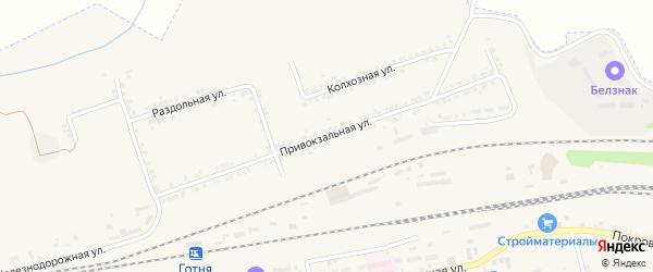 Привокзальная улица на карте Пролетарского поселка с номерами домов