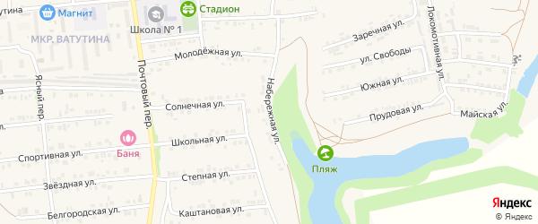 Набережная улица на карте Пролетарского поселка с номерами домов