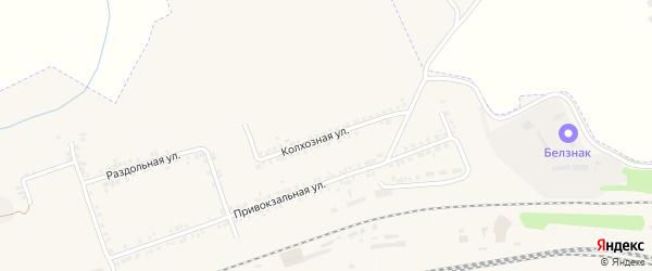 Колхозная улица на карте Пролетарского поселка с номерами домов