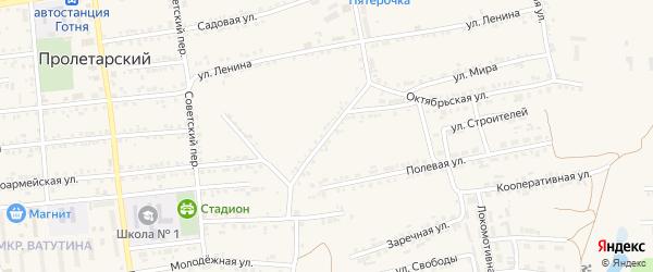 Октябрьская улица на карте Пролетарского поселка с номерами домов