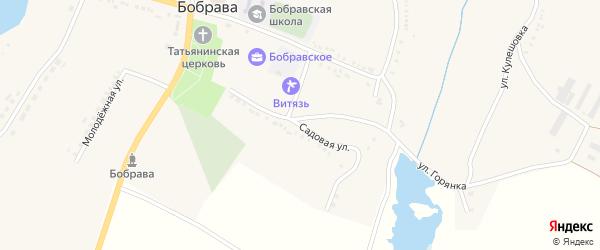 Садовая улица на карте села Бобравы с номерами домов