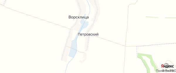 Карта Петровского хутора в Белгородской области с улицами и номерами домов