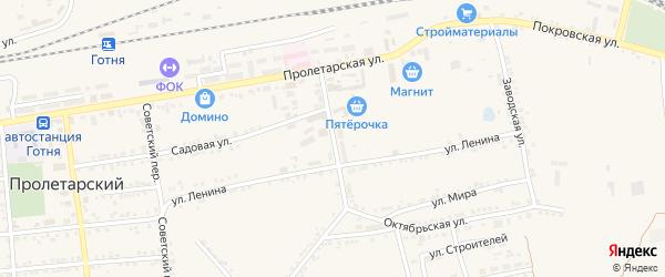 Переулок Кирпичного завода на карте Пролетарского поселка с номерами домов