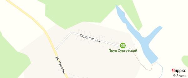 Сургутская улица на карте Ломного села с номерами домов