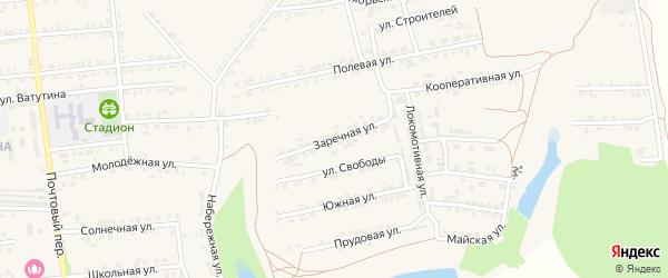 Заречная улица на карте Пролетарского поселка с номерами домов