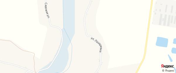 Улица Лазаревка на карте Солдатского села с номерами домов