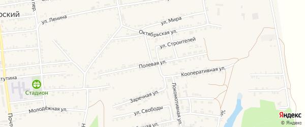 Полевая улица на карте Пролетарского поселка с номерами домов