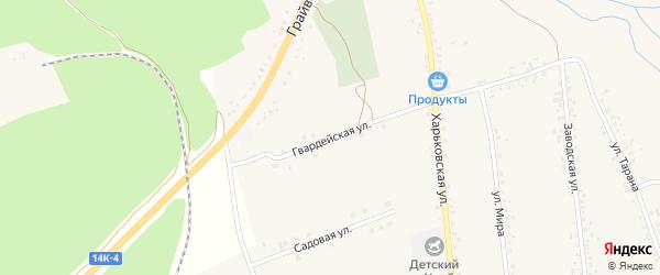 Гвардейская улица на карте села Головчино с номерами домов