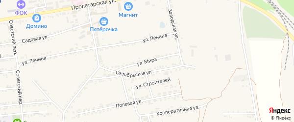 Улица Мира на карте Пролетарского поселка с номерами домов