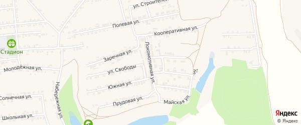 Локомотивная улица на карте Пролетарского поселка с номерами домов