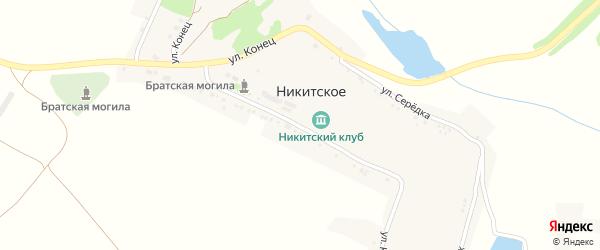 Улица Подлесовка на карте Никитского села с номерами домов