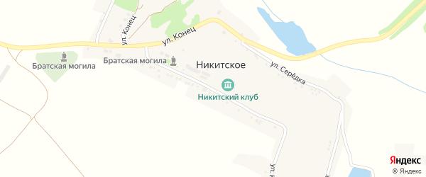 Улица Полесовка на карте Никитского села с номерами домов