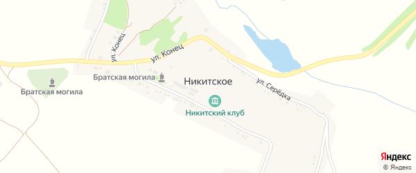 Улица Клинок на карте Никитского села с номерами домов