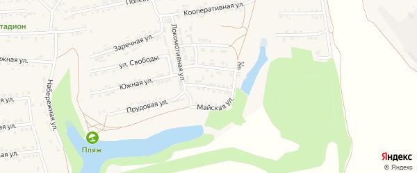 Юбилейная улица на карте Пролетарского поселка с номерами домов