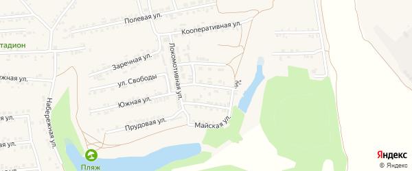 2-я Трудовая улица на карте Пролетарского поселка с номерами домов