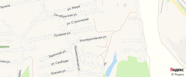 Кооперативная улица на карте Пролетарского поселка с номерами домов