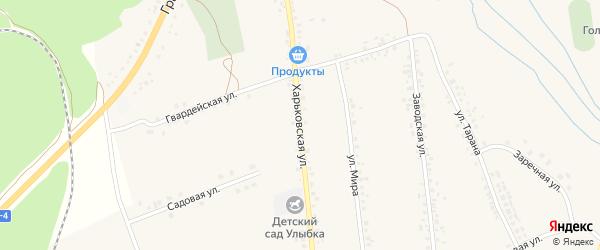 Харьковская улица на карте села Головчино с номерами домов