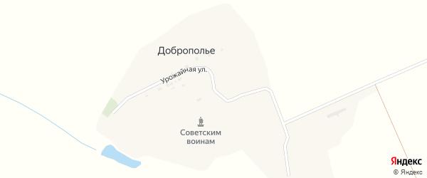 Урожайная улица на карте поселка Доброполья с номерами домов
