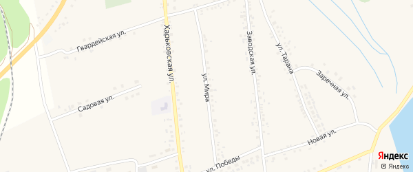 Улица Мира на карте села Головчино с номерами домов