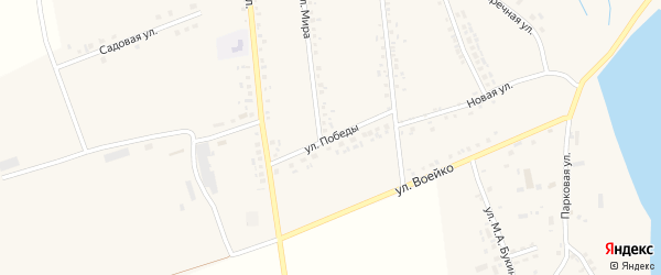Улица Победы на карте села Головчино с номерами домов