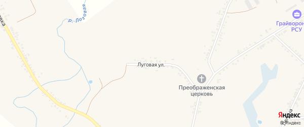 Луговая улица на карте села Головчино с номерами домов