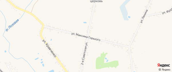 Улица М.Горького на карте села Головчино с номерами домов