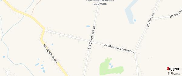 2-я Советская улица на карте села Головчино с номерами домов