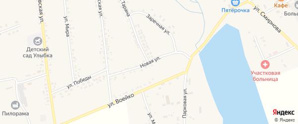 Новая улица на карте села Головчино с номерами домов