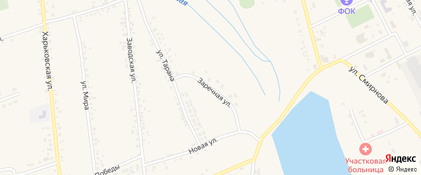 Заречная улица на карте села Головчино с номерами домов