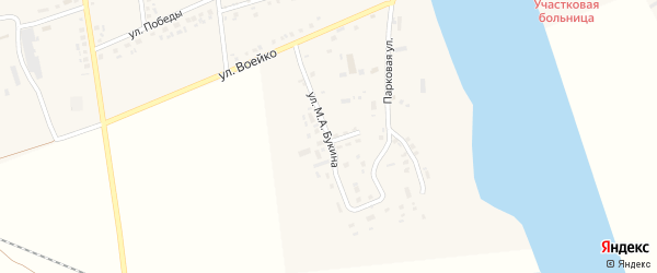 Улица им М.А.Букина на карте села Головчино с номерами домов